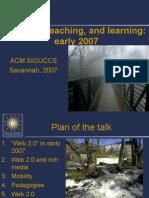 ACM SIGUCCS 2007 keynote
