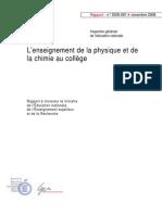 L'Enseignement - Physique -Chimie