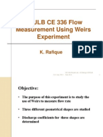 Flow Measurement Using Weirs
