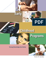 Effective Early Childhood Programs