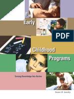 Effective Early Childhood Programs
