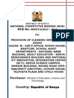 Tender for Provision of Cleanining Services