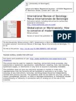 Globalization or World Society-Luhmann