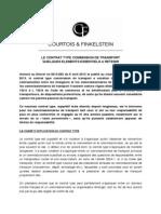 Fiche No 9 - Le Contrat Type Commission de Transport - Ce Qu'Il Faut Retenir