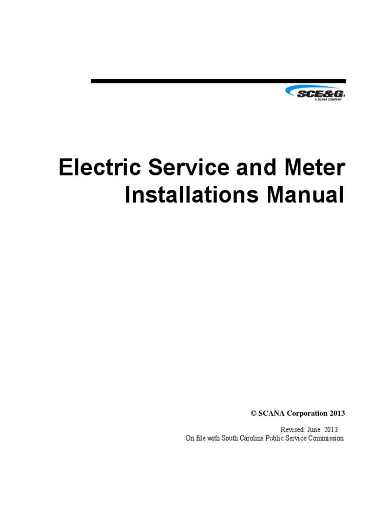 Electric Service And Meter Installations Electrical Wiring Chassis Branch Circuit Diagram For 208 Vac 20 Amp 3wire 1phase U Conductor