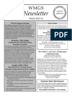 WMGS Winter 2013-14 Newsletter