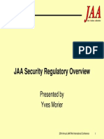 JAA Security Regulatory Overview