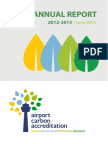 Airport Carbon Accreditation - Annual Report 2012-2013