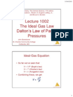 lecture 1002 -- the ideal gas law and daltons law of partial pressures