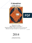 Calendrier orthodoxe 2014