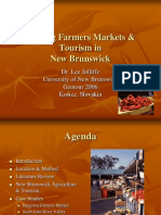 linking farmers markets and tourism