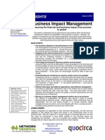 Business impact management