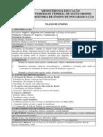 PROGRAMA DA DISCIPLINA - Esporte Comunicacao e Identidade Brasileira