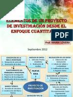 Elementos de Un Proyecto de Investigacion Cuantitativa
