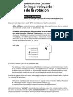 Ley Nº 18700 sobre Votaciones Populares y Escrutinios