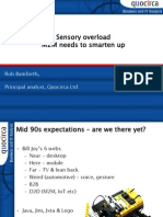 Sensory overload - M2M needs to smarten up