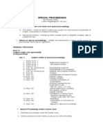 Special Proceedings Bar Review Guide July 2011