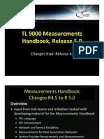 TL 9000 Measurements Handbook Release 5.0 Changes
