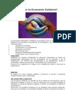 Que es la Economía Solidaria 201232