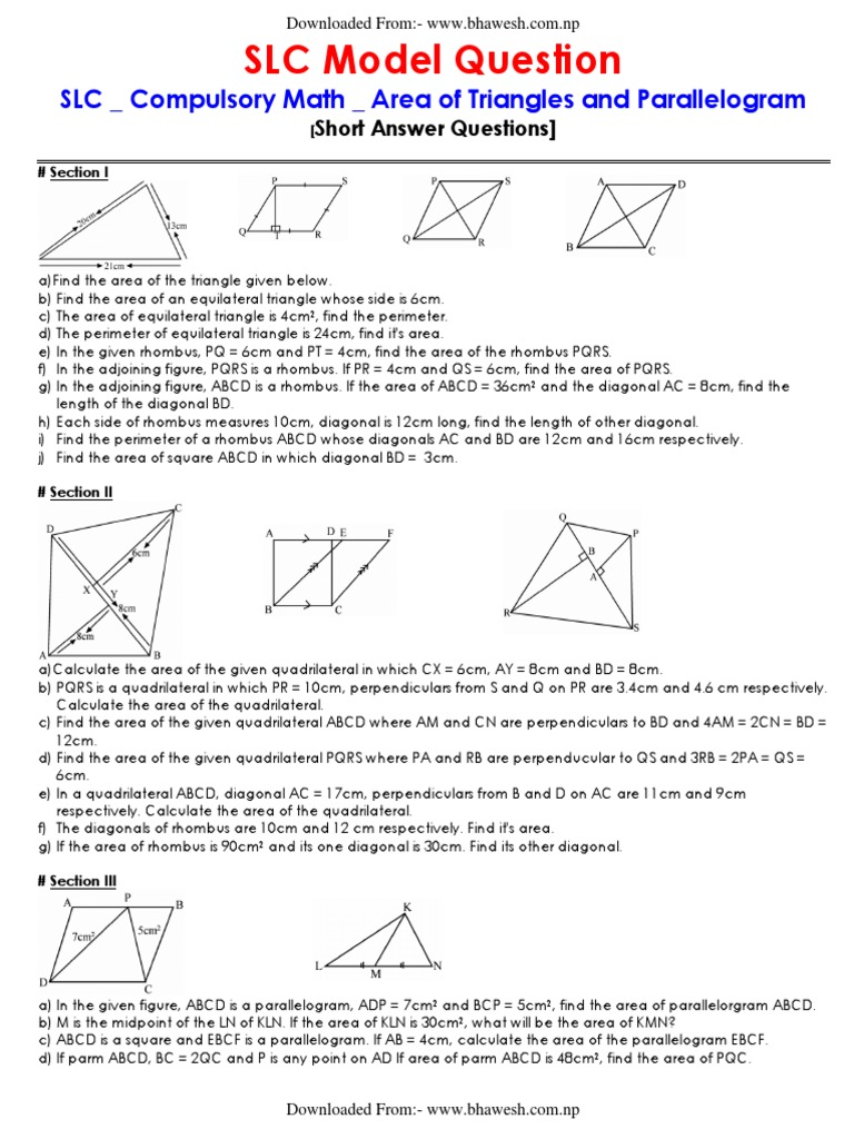 Slc compulsory math model question all sphere circle ccuart Image collections