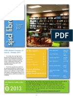 SJSD Secondary Libraries - Monthly Report Newsletter October 2013