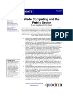 Blade computing and the public sector