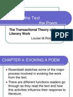 Evoking the Poem by Rosenblatt