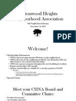 CHNA Fall Neighborhood Meeting 11-14-13