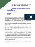 El Desarrollo Organizacional y El Clima Organizacional en La Aldea Universitaria =