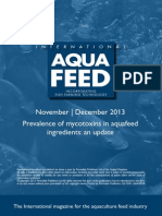 Prevalence of mycotoxins in aquafeed ingredients