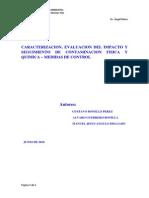 Caracterizacion, Evaluacion Del Impacto y Seguimiento de Contaminacion Fisica y Quimica