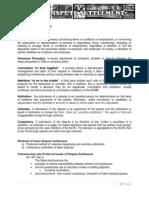 Labor Dispute Settlement (ADR)