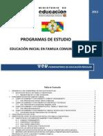 EDUCACIÓN INICIAL EN FAMILIA COMUNITARIA