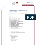 Sedbergh School Application Package
