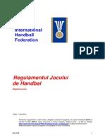 Regulamentul Jocului de Handbal