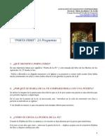 Porta Fidei-21 Preguntas
