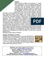 Knox November 17, 2013 Bulletin