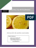 'Extracción de aceites esenciales' (Proyecto integrado, curso 2010_2011)
