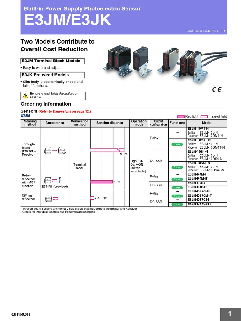 E3jm Photoelectric Switch Wiring Diagram Free For You Omron Photo Electric Sensor Relay Light Emitting Diode Rh Scribd Com Of A