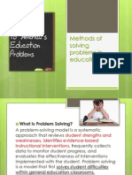 Methods of Solving Problems in Education