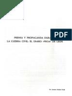 """Diario """"Proa"""" de León durante la Guerra Civil"""