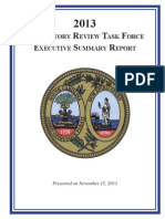 Regulatory Review Task Force executive summary