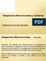 Obligaciones Mancomunadas y Solidarias