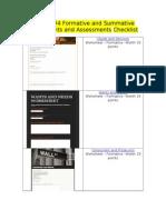 module 4 summative and formative checklist