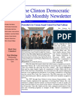 The Clinton Democratic Club October 2013 Newsletter