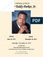 Program for Funeral of Pastor Teddy Parker Jr.