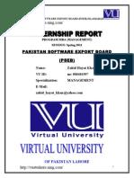 Internship Report Management Pakistan Software Export Board Pseb