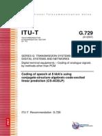 ITU-T G729E