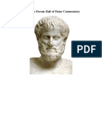 Aristotle's Hall of Fame Commentary