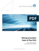 Mining Innovation State of Play Survey 2013